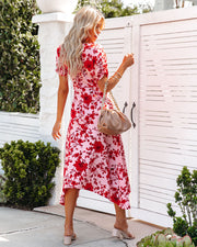Intimate Retreat Floral Midi Dress view 2
