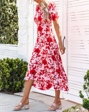 Intimate Retreat Floral Midi Dress view 8