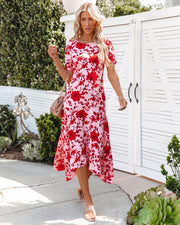 Intimate Retreat Floral Midi Dress view 10