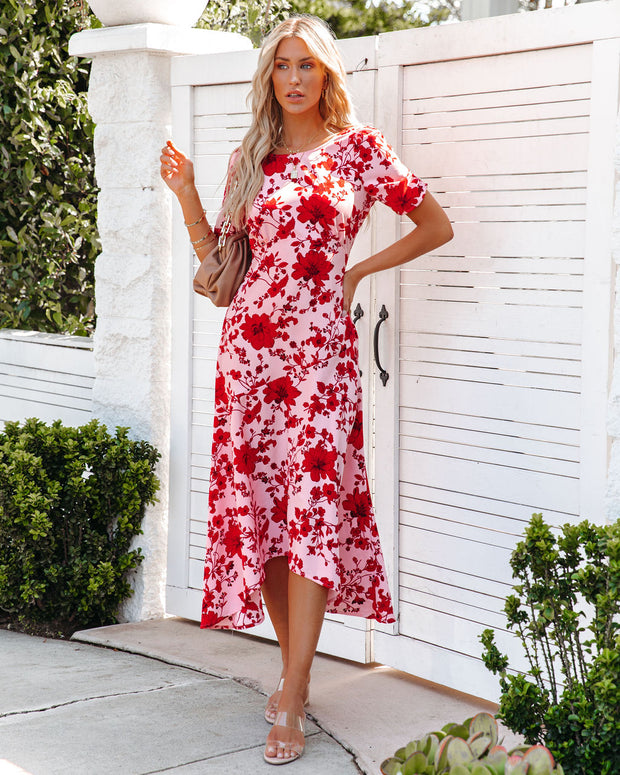 Intimate Retreat Floral Midi Dress view 3