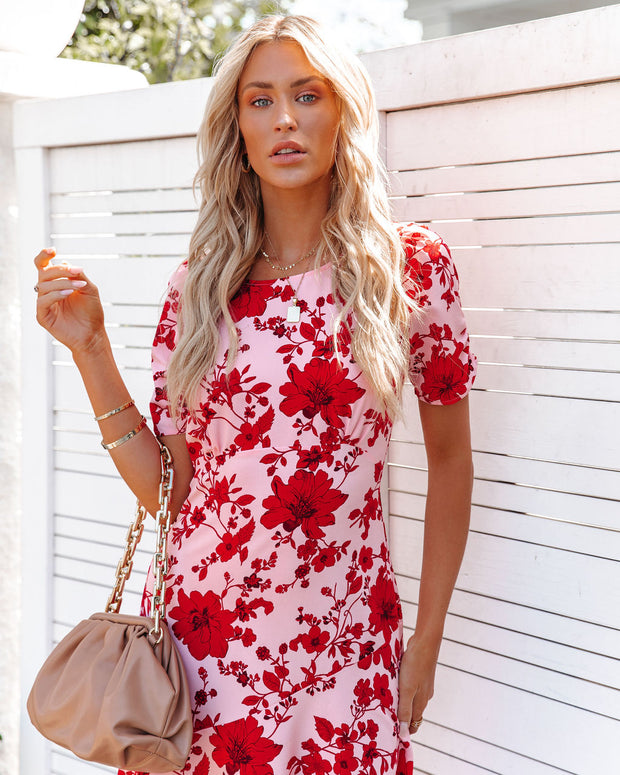 Intimate Retreat Floral Midi Dress view 9