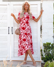 Intimate Retreat Floral Midi Dress view 1