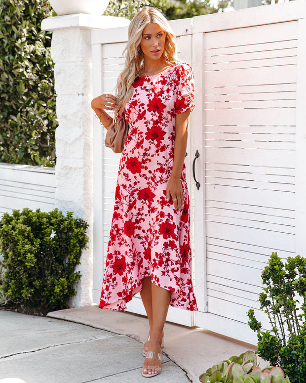 Intimate Retreat Floral Midi Dress view 5