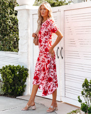 Intimate Retreat Floral Midi Dress view 7