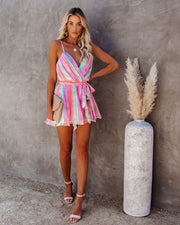 In Vogue Pleated Romper