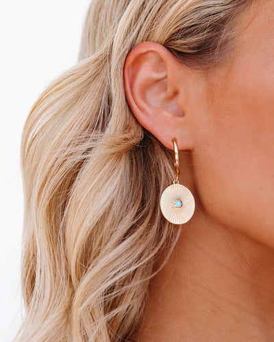 Ishika Drop Hoop Earrings