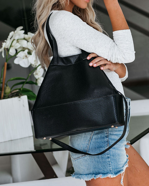 Isobel Expandable Tote - Black
