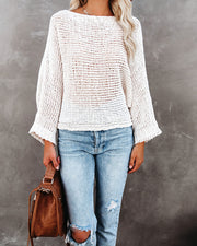 It's Cool Boat Neck Sweater - Cream