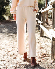 Izzy Cotton Blend Pocketed Wide Leg Pants - Natural - FINAL SALE view 5