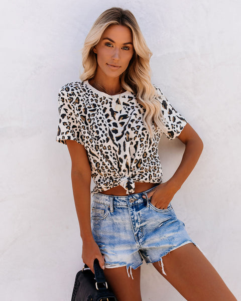 Jackie Cotton Leopard Tee