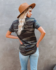 Jacob Cotton Blend Pocket Camo Tee