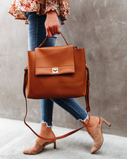 Jane Faux Leather Crossbody Handbag