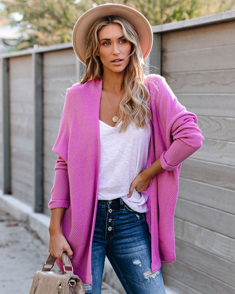 Jaxel Knit Cardigan - French Rose