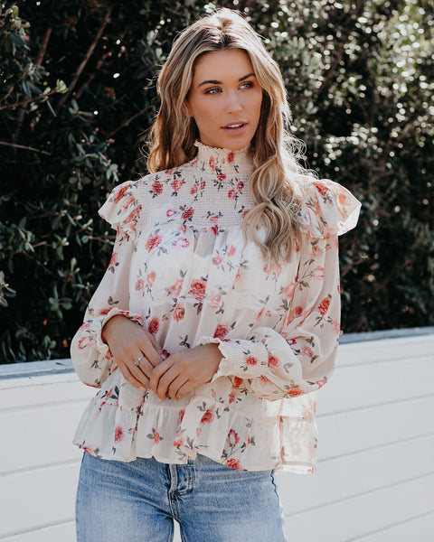 Jaylon Floral Smocked Blouse - FINAL SALE