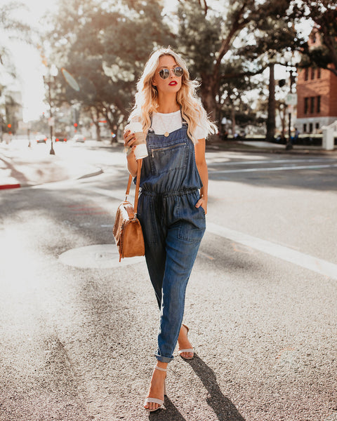Factory Pocketed Tencel Overalls - FLASH SALE