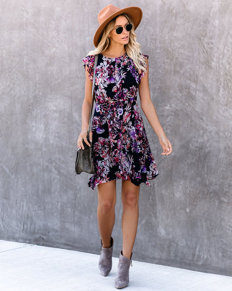 Jemima Floral Twist Dress - FINAL SALE