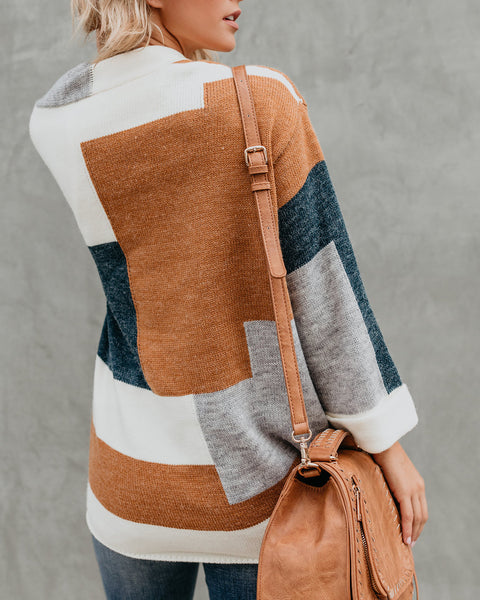 Jersey Girl Colorblock Knit Cardigan
