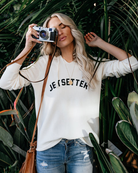 Jetsetter Cotton Blend Hooded Sweatshirt