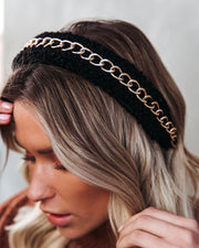 Jinx Gold Chain Sherpa Headband view 1