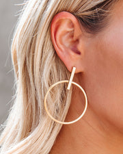 Jocelyn Drop Hoop Earrings view 1