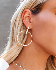 Jocelyn Drop Hoop Earrings view 3