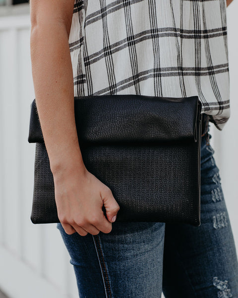 Josie Crossbody Clutch - Black
