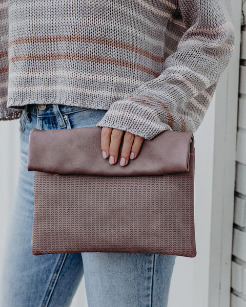 Josie Crossbody Clutch - Mauve - FINAL SALE