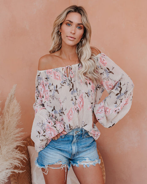Joys Of Spring Floral Blouse