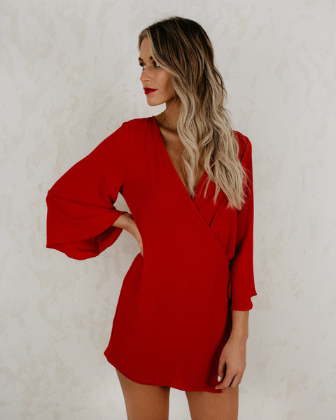 Hollywood Heights Romper - Red