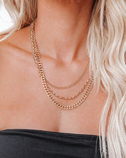 Julianna Layered Chain Necklace view 3