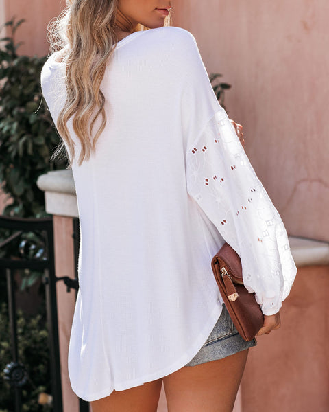 June Contrast Eyelet Thermal Top