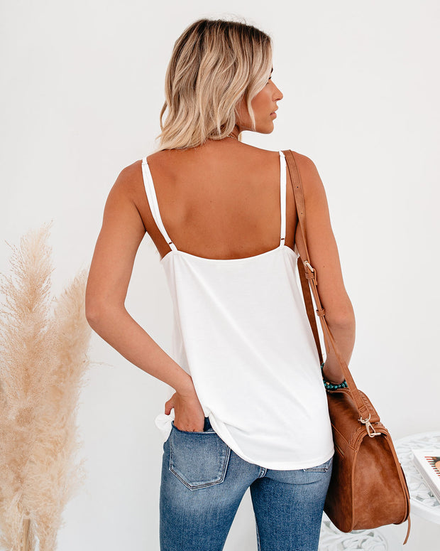 Just A Dream Knit Cami Tank - Ivory
