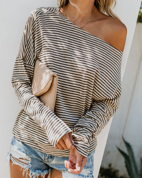 Just Friends Long Sleeve Knit Top