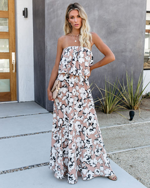 Just Like This Strapless Maxi Dress