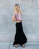 Just The Thing Maxi Skirt - Black