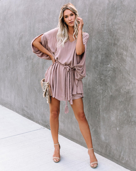Just Want To Have Fun Rope Tie Shimmer Dress - FINAL SALE