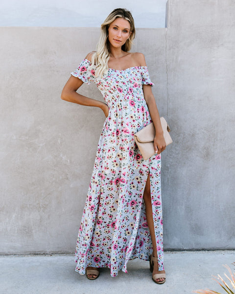 Kahlo Floral Smocked Maxi Dress - FINAL SALE