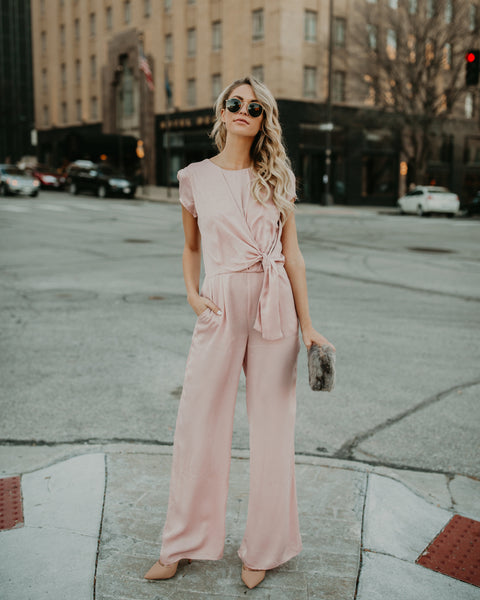 Kano Pocketed Jumpsuit - Blush