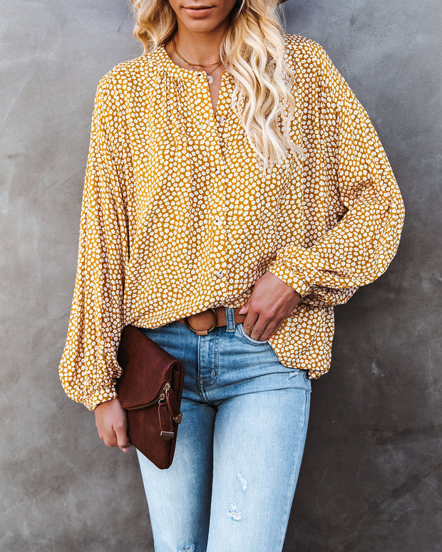 Kayla Floral Button Down Top