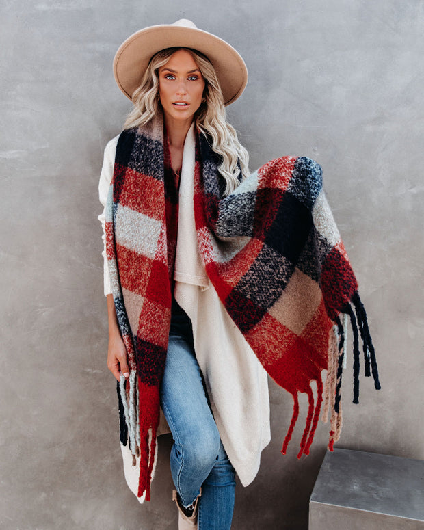 Keep It Cozy Plaid Scarf