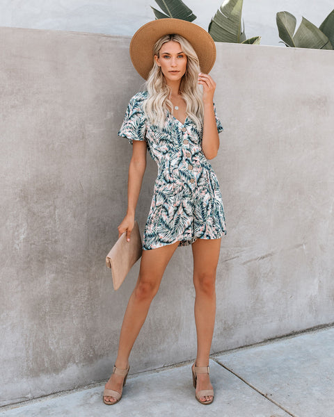 Keep Palm + Carry On Romper