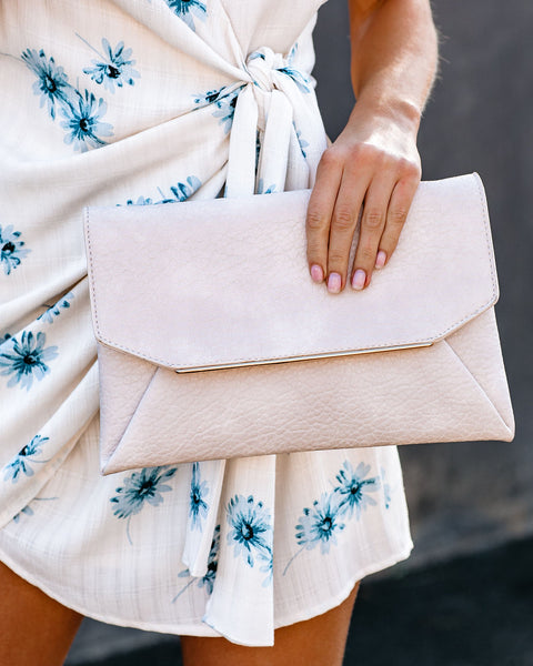 Keira Crossbody Envelope Clutch - Ivory