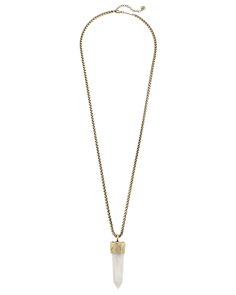 KENDRA SCOTT - Jayce Long Necklace In White Banded Agate