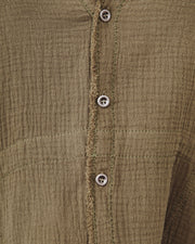 Kennedy Cotton Pocketed Button Down Tunic - Olive view 4