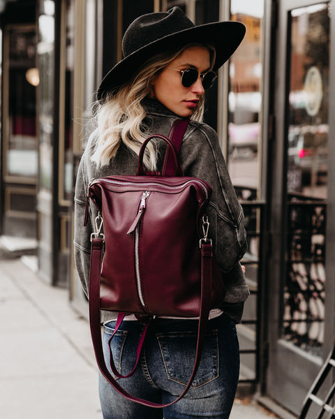Kenzie Backpack - Burgundy