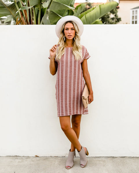 Kinzie Pocketed Cotton Shift Dress