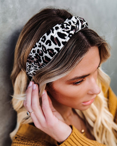 Key Cheetah Twist Headband