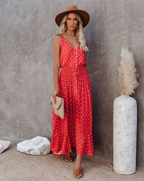 Key To My Heart Button Down Maxi Dress
