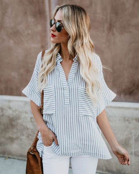 Kick Back Striped Top