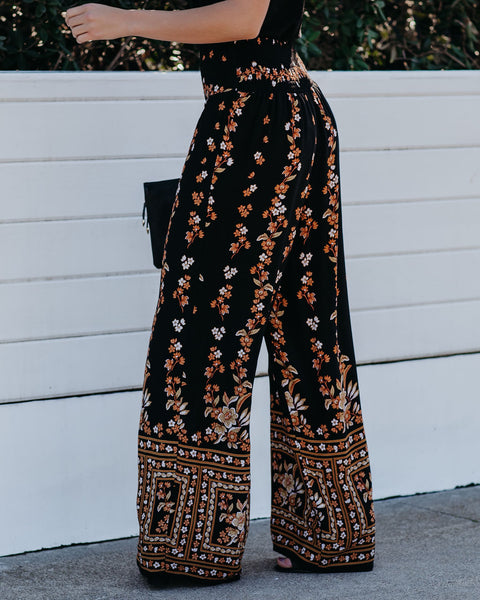 Killing Me Softly Printed Wide Leg Pants - FINAL SALE
